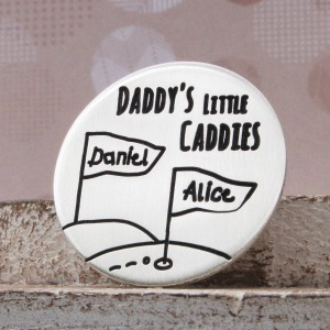 IndiviJewels LIttle Caddies Golf Ball Marker