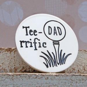 IndiviJewels Tee-rrific Dad Sterling Silver Golf Ball Marker