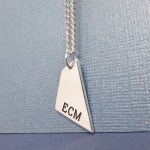 IndiviJewels Mens Personalised Geometric Shard Necklace Alt