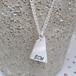 IndiviJewels Mens Personalised Geometric Shard Necklace Hanging Main