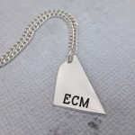 IndiviJewels Mens Personalised Geometric Shard Necklace Main