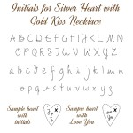 IndiviJewels Initials for Silver Heart with Gold Kiss Necklace
