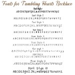 IndiviJewels fonts for Tumbling Hearts Necklace