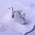 IndiviJewels Polished Heart Earrings