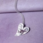 IndiviJewels Sterling Silver Torn Heart Necklace 6