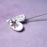 IndiviJewels Sterling Silver Torn Heart Necklace 7