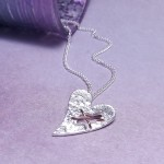 IndiviJewels Sterling Silver Torn Heart Necklace Main