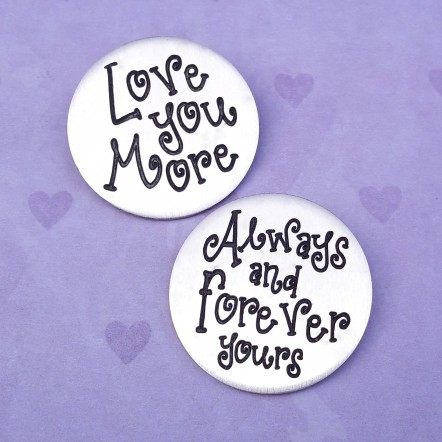 IndiviJewels Sterling Silver Love MessageTokens