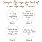 Sample messages for Love Message Tokens