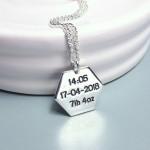 IndiviJewels Hexagon Babyprints necklace Back