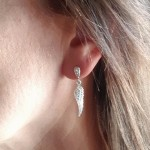 IndiviJewels Angel Wing with Crystal Stud wearing