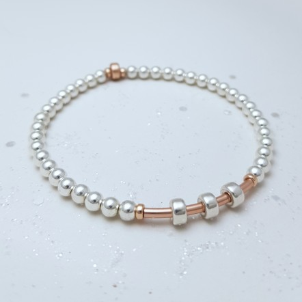 IndiviJewels 30th Birthday Bar Bracelet with Rose Gold Bar