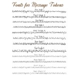 IndiviJewels Font Styles for Message Tokens