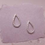IndiviJewels Silver Faceted Teardrop Earrings